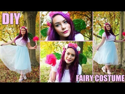 Fairy Halloween Costume (DIY Cellophane Wings, costume & makeup)