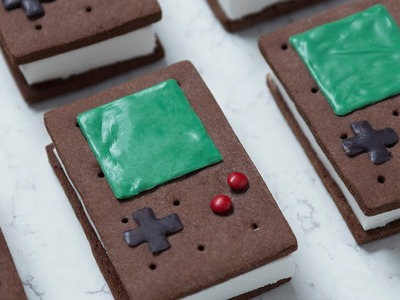 GAME BOY ICE CREAM SANDWICHES - NERDY NUMMIES