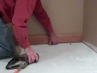 How To Cope And Install Baseboard Trim Video