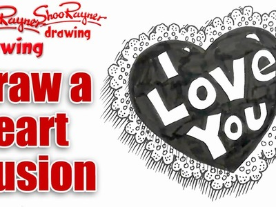How to draw a Lacey Pillow of Love for Valentine's Day