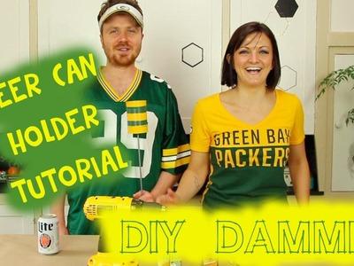 HOW TO MAKE A DIY TIN CAN BEER HOLDER W. GARETH REYNOLDS -- DIY, DAMMIT!