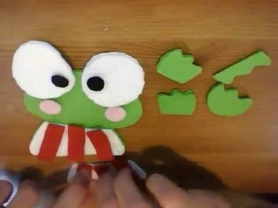 How to make a Keroppi plush tutorial