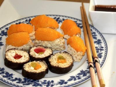 How to make Rice Krispy Treat Sushi¡