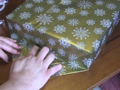How To Wrap a Gift Two Ways - (thick and thin)
