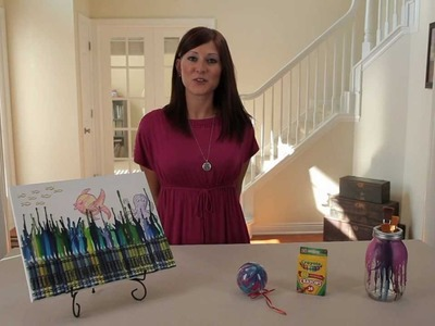 Learn with Jo-Ann: Set the Colors Free with Crayons on Canvas
