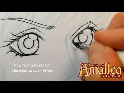Manga Inking Tutorial - Sword Princess Amaltea by Natalia Batista