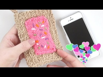 Pop Tart Knitted Phone Cover | Back to School DIY