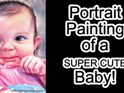 Portrait Painting of a Supercute Baby