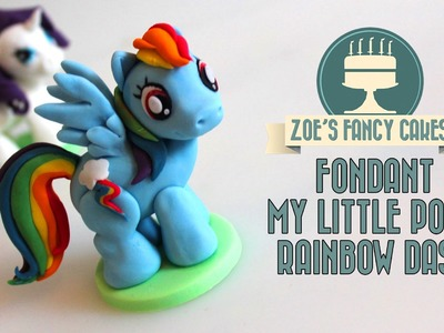 Rainbow Dash model: How to make a my little pony fondant cake topper fimo tutorial