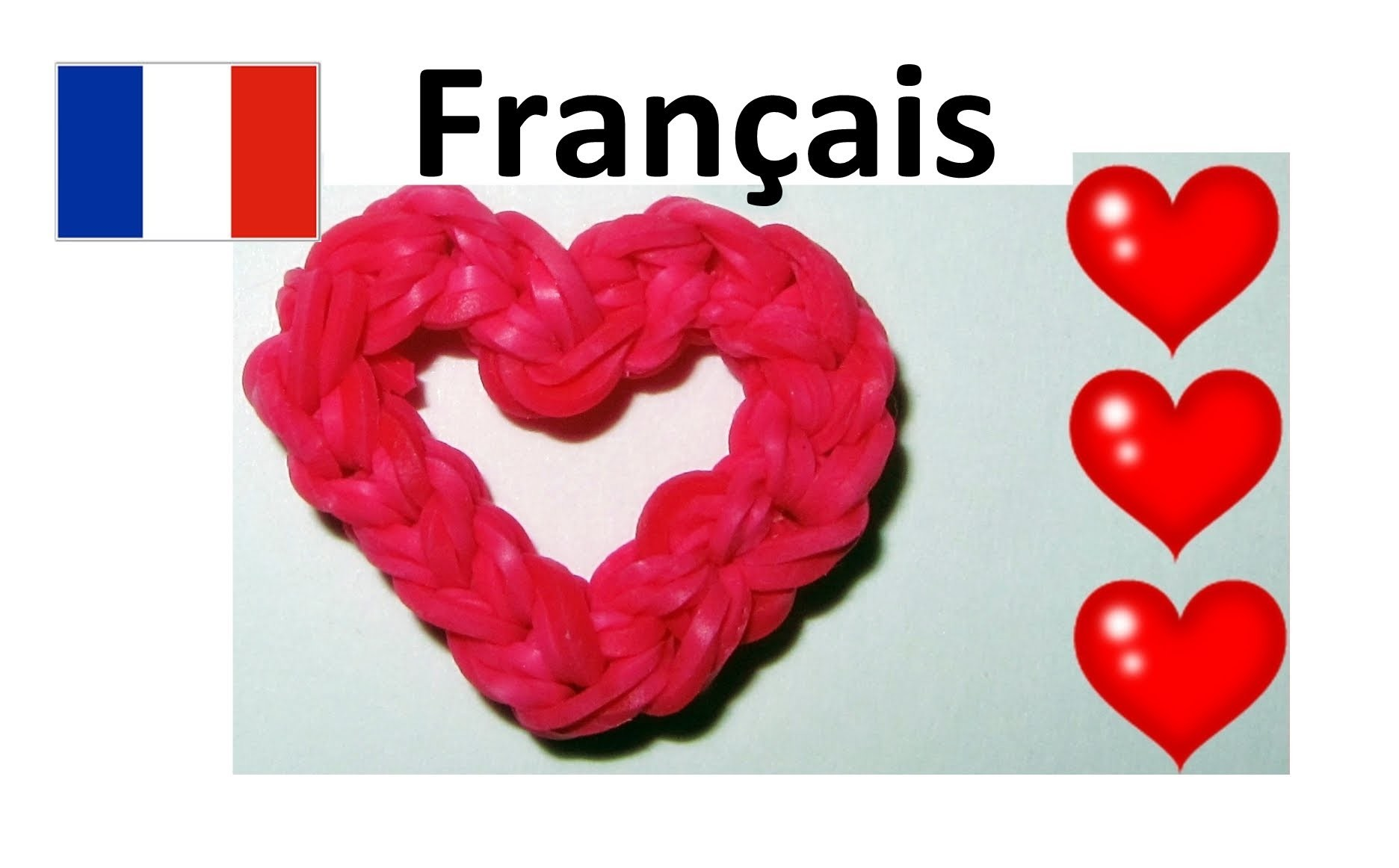 Rainbow Loom Français || Coeur élastiques | loom bands heart