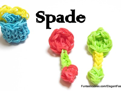 Rainbow Loom Spade.Spoon Beach Toys charm - How to - Summer