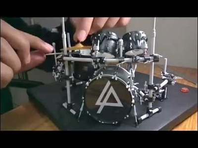 Rob Bourdon's (Linkin Park) drum set paper model
