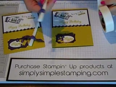 Simply Simple FLASH CARDS Birthday Candle by Connie Stewart