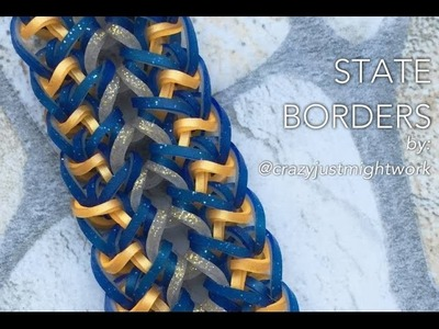 STATE BORDERS Hook Only bracelet design