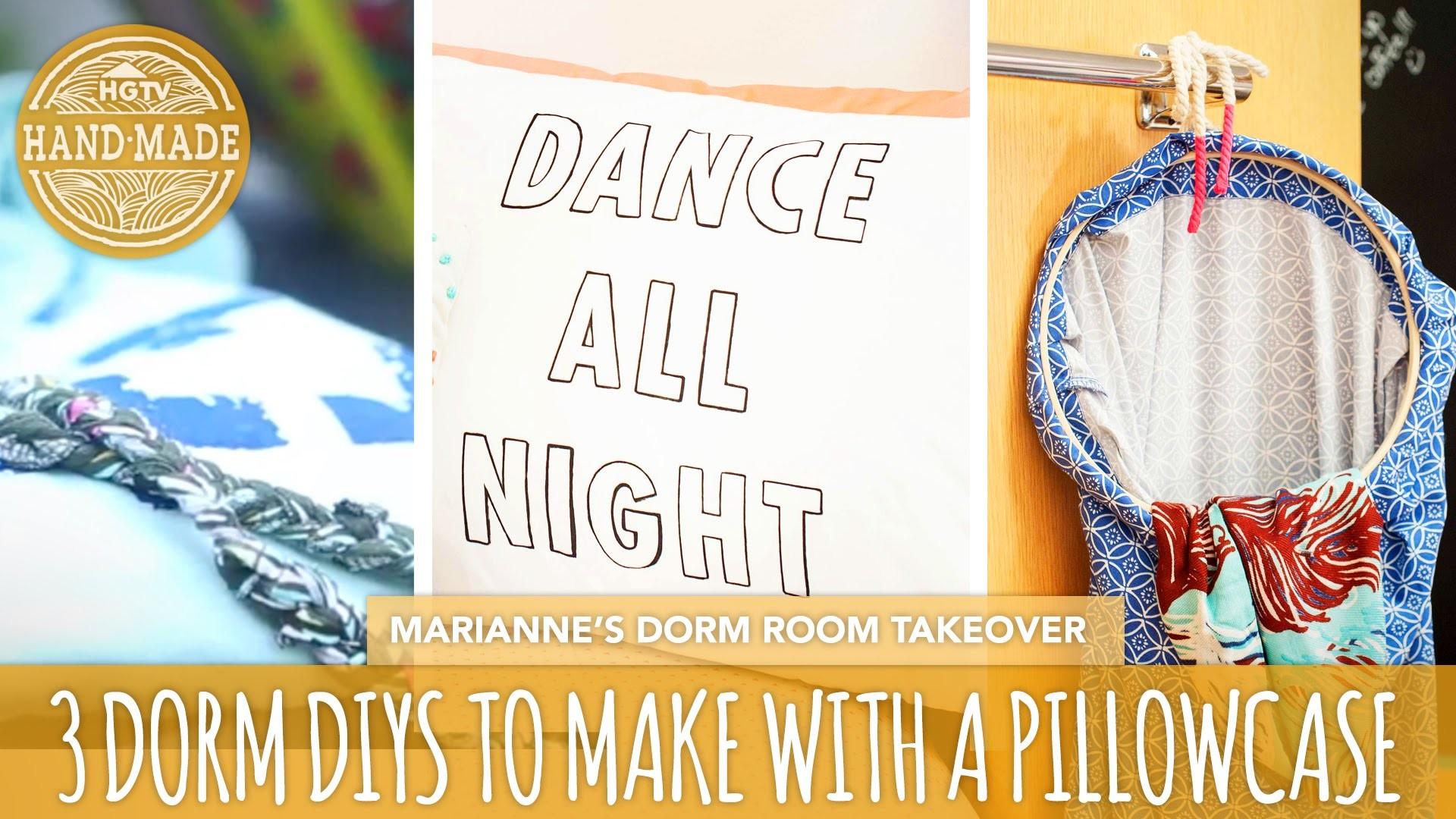 3 Back To School DIYs You Can Make With a Pillowcase - HGTV Handmade