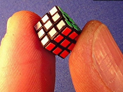 Assembling the World's Smallest (old) 8mm Rubik's Cube