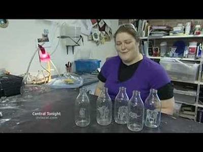 Charlotte's milk bottle art