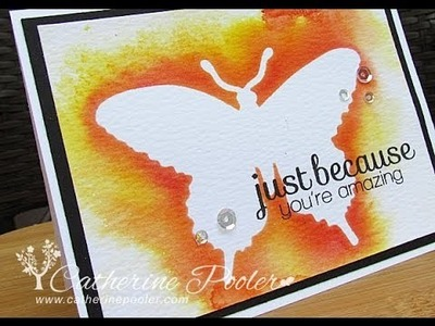 Colorwashed Butterfly with Catherine Pooler