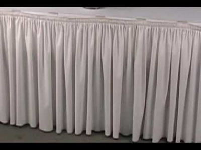 Decorating For Wedding Receptions-Table Skirting
