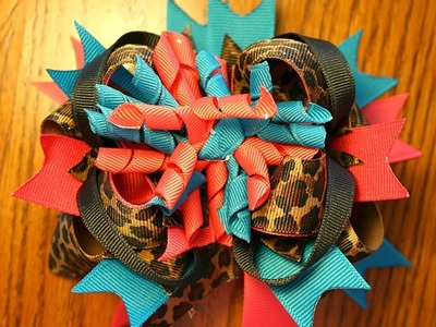 ~Design Idea~ Wild Leopard hairbow tutorial (stacked bow tutorial)