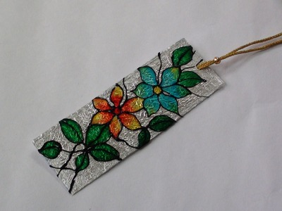 DIY Bookmark with Glass Paints