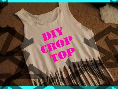 DIY: Crop Top From Old Shirt