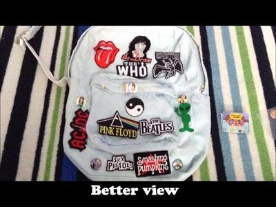 DIY: Denim Patch Backpack