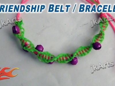 DIY Friendship Belt. Bracelet making JK Arts 269