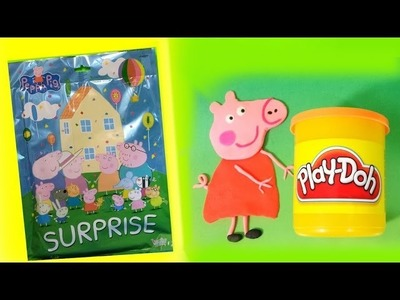 DIY How to Make Play Doh Peppa Pig Unwrapping Surprise bag MsDisneyReviews Play-doh