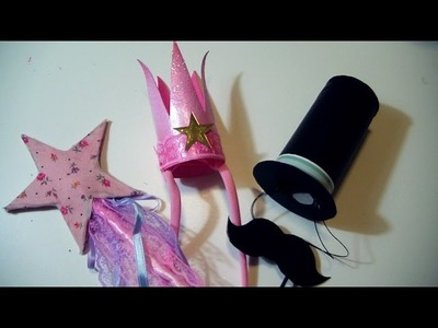 DIY Party.Halloween Ideas for Kids: Fairy PrincessCROWN and WAND + HAT and MUSTACHES