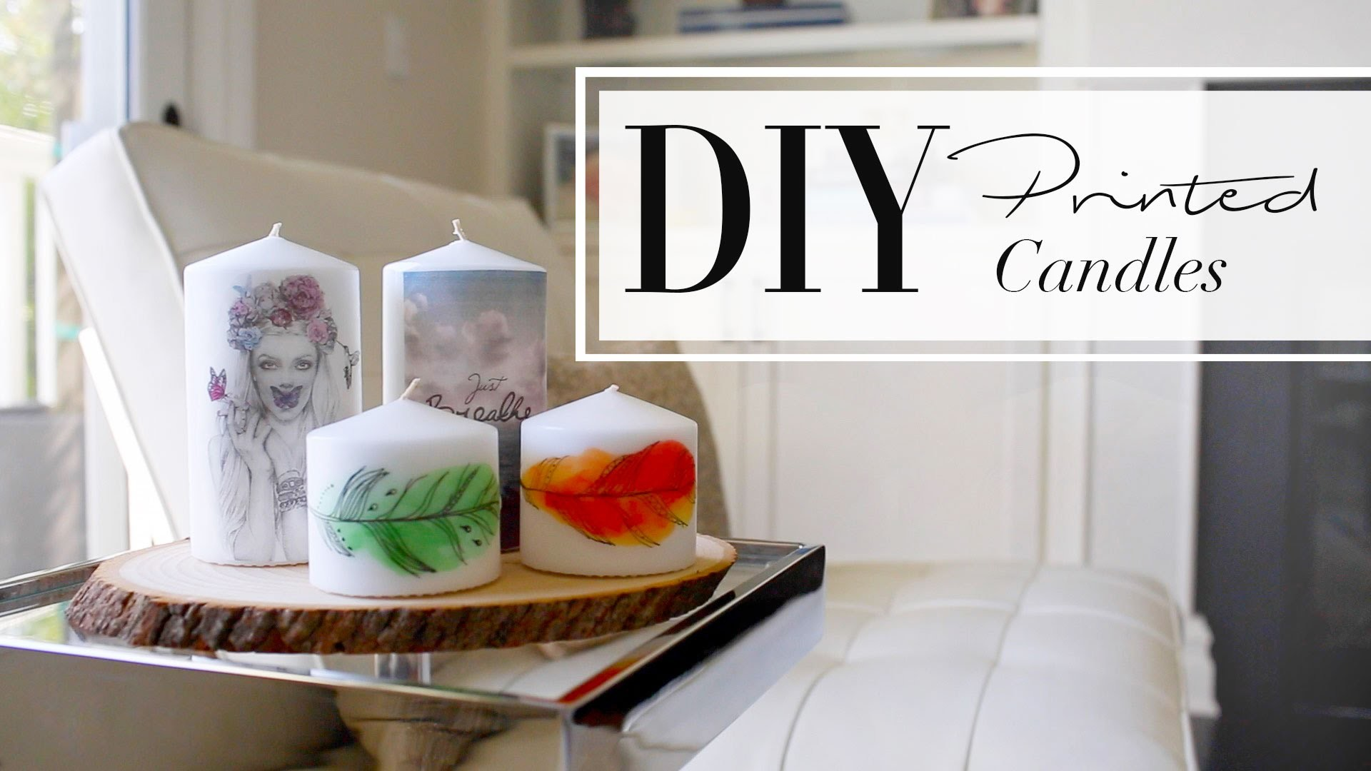 DIY Printed Candles | ANNEORSHINE & WhatsUpMoms
