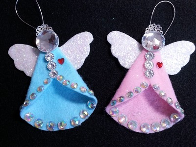 DIY~Sparkling Vintage.Retro Felt Angel Ornament!