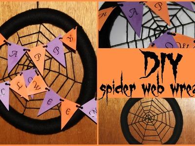 DIY: Spider Web Wreath ♡ {#TEDIYHalloween} ♡ Jessica Joaquin
