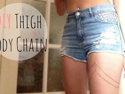 DIY Thigh Body Chain - lx3bellexoxo ♡