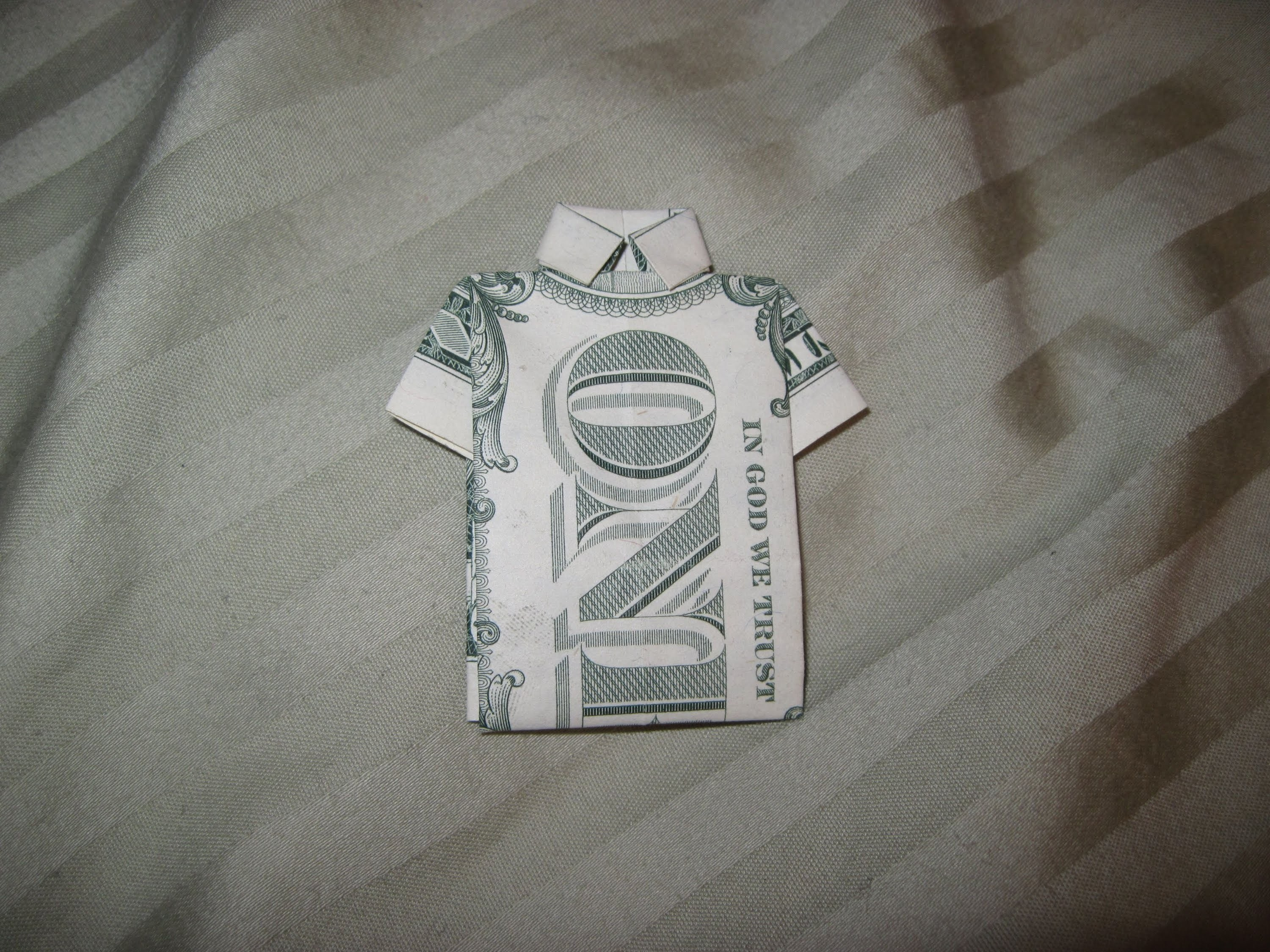 Dollar Origami: Collared Shirt