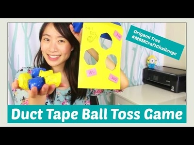 Duct Tape Crafts - DIY Ball Toss Carnival Game Tutorial - Kids Crafts - #MBMCraftChallenge