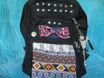 Easy DIY Backpack Decoration!
