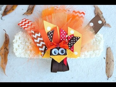 Gettin' our GOBBLE ON!! Turkey hair clip tutorial