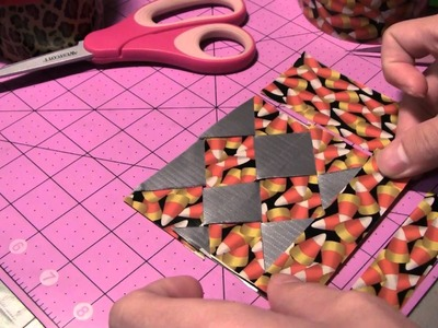 How to do Duct tape Diagonal weaving!