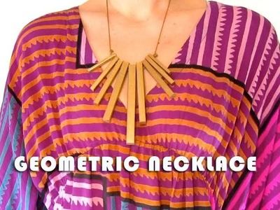How To Make a Geometric Necklace