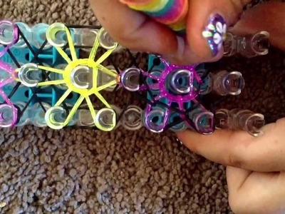 How to make a rainbow loom flower power bracelet By:Cadin Castillo
