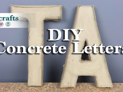 How to Make Homemade Concrete Letters