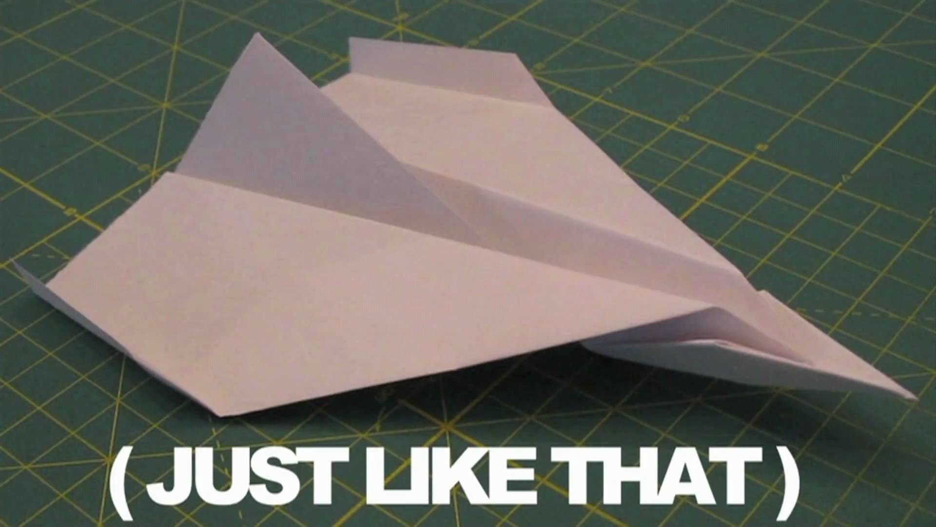 How to make the worlds best paper airplane!