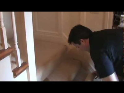 How to put Pro Tect's Carpet Protection down stairs by hand