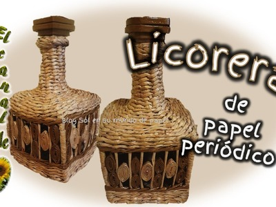 LICORERA DE PAPEL PERIODICO - Decanter newspaper