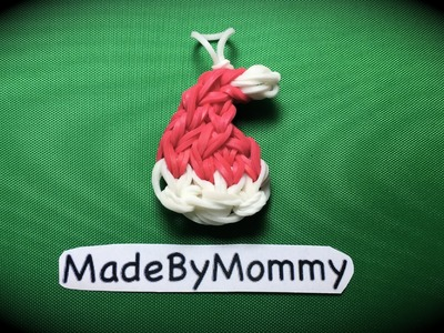 Made by Mommy's Santa Hat Charm on the Rainbow Loom