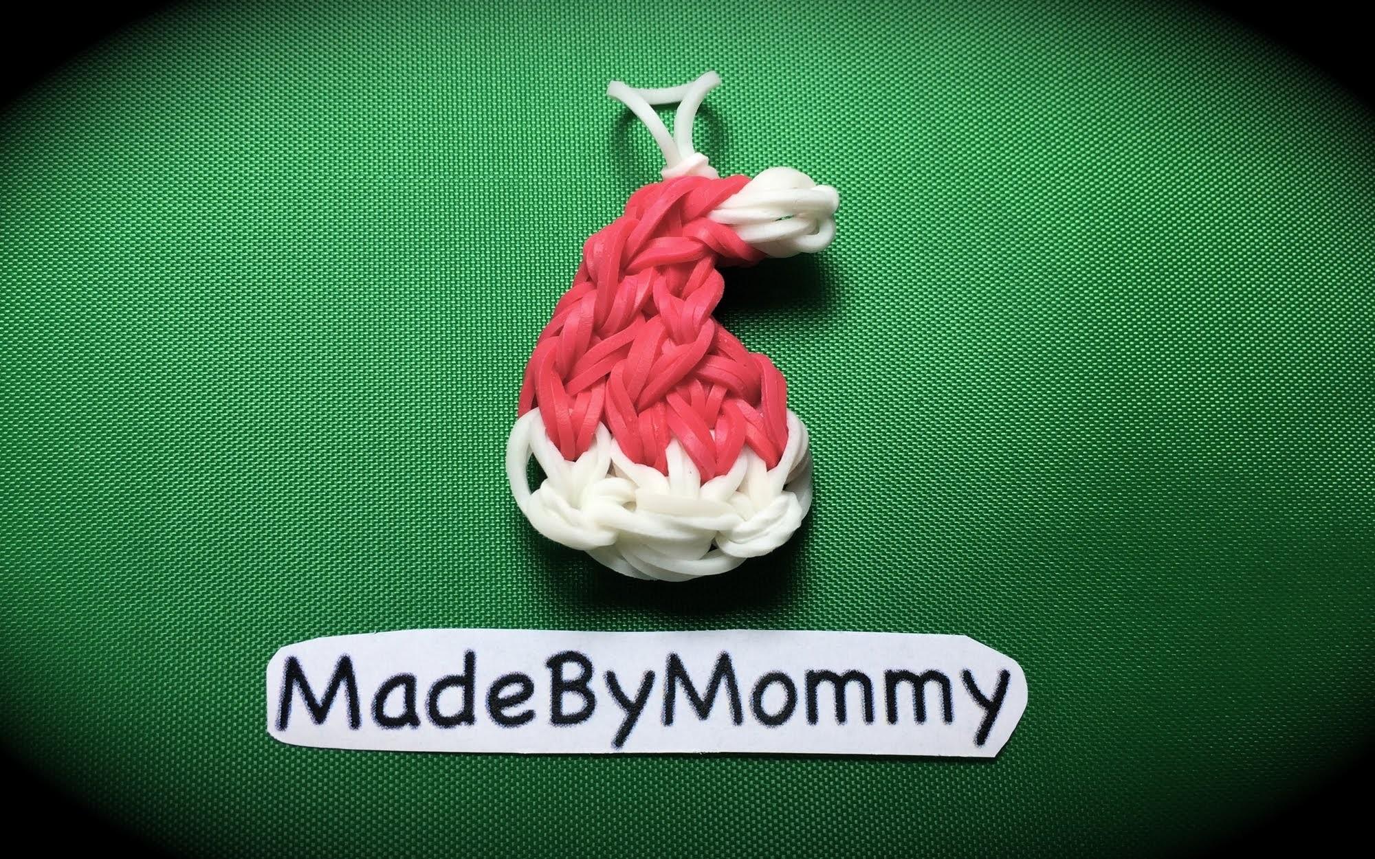 Made by Mommy's Santa Hat Charm on the Rainbow Loom