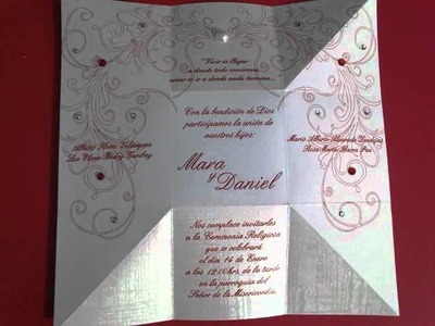 "Magic Box Wedding Invitation - Invitación de boda ""Magic Box"""