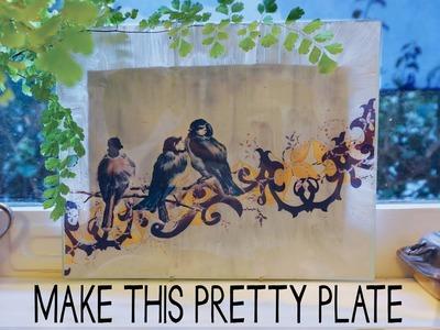 Make This Decorative Plate • Easy • Pretty • Free Design