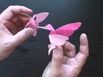 Making a Kirigami Hummingbird with Craft Papyrus Paper